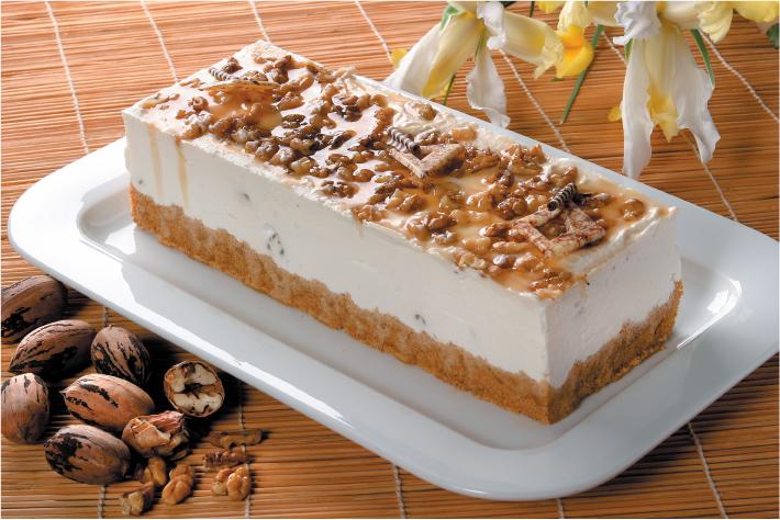 Mousse mézzel, dióval és Digestive keksszel